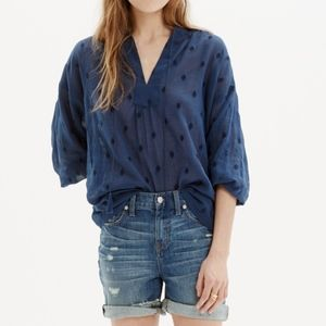 Madewell Embroidered Openview Tunic